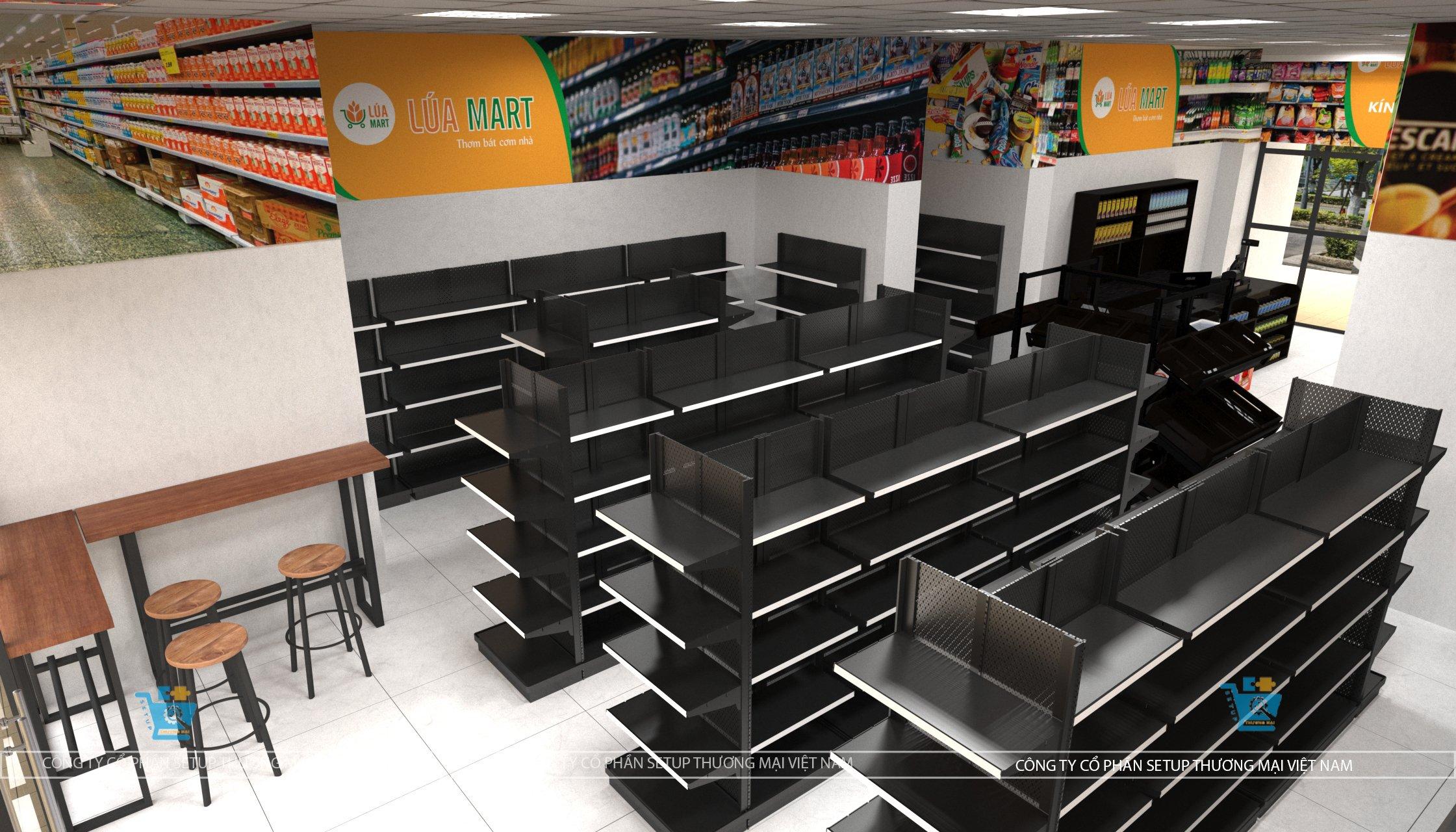 thiết kế siêu thị