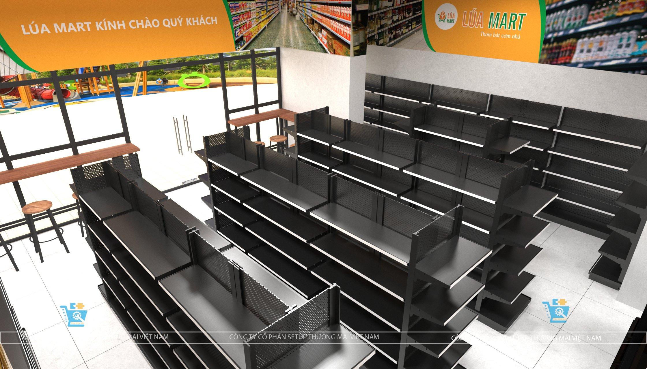 Thiết kế siêu thị lúa mart tại Hà Đông